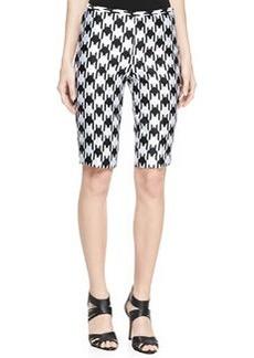 Michael Kors Houndstooth Long Shorts