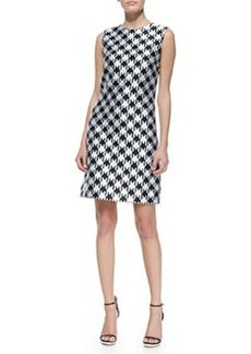 Michael Kors Houndstooth Sleeveless Shift Dress