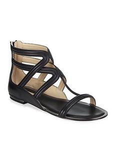 Michael Kors Hunter Leather Gladiator Sandals