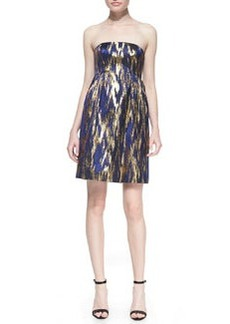 Michael Kors Ikat Jacquard Strapless Shift Dress
