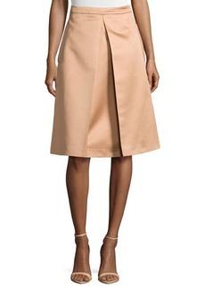 Michael Kors Inverted-Pleat Skirt, Suntan