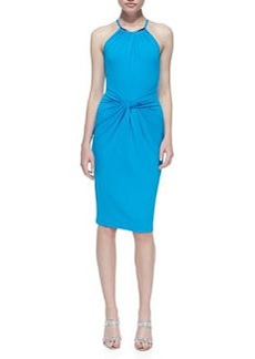 Michael Kors Jersey Necklace Halter-Neck Dress, Pool