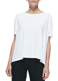 Michael Kors Jersey Scoop-Neck Tunic, White