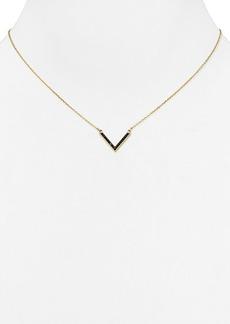 """Michael Kors Jet Pavé Arrow Pendant Necklace, 18""""L"""