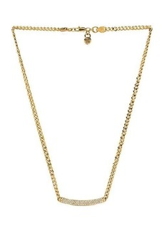 Michael Kors Jeweled Astor Necklace in Metallic Gold