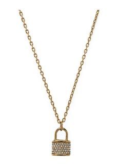 Michael Kors Jeweled Lock Necklace