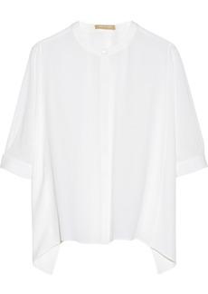 Michael Kors Kimono-sleeve silk-georgette blouse