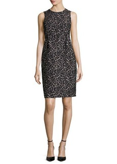 Michael Kors Lace Jacquard Empire Shift Dress