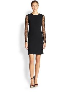 Michael Kors Lace-Sleeve Dress
