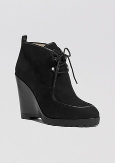 Michael Kors Lace Up Platform Wedge Booties - Beth
