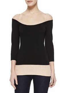 Michael Kors Layered Scoop-Neck Top