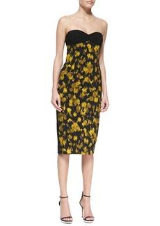 Michael Kors Leaf Crepe Bustier Dress