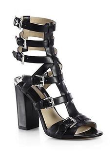 Michael Kors Leather Buckle Sandals