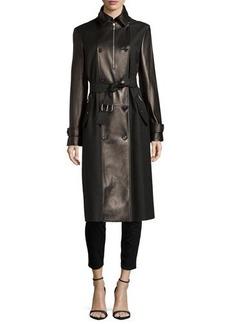 Michael Kors Leather Combo Trenchcoat