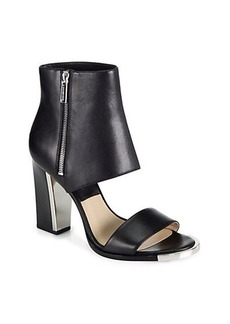 Michael Kors Leather Sandal Ankle Boots