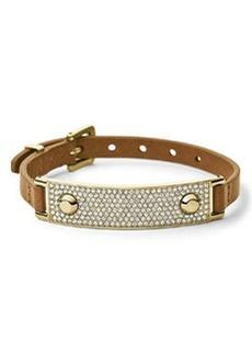Michael Kors Leather Wrap Bracelet, Golden