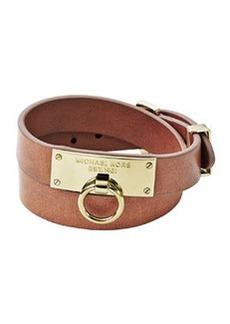 Michael Kors Leather Wrap Bracelet, Tan