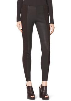 Michael Kors Leather/Suede Leggings