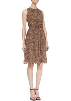 Michael Kors Leopard-Print Dance Dress