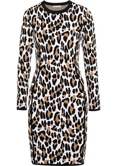 Michael Kors Leopard-print jersey dress