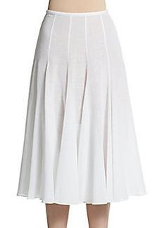 Michael Kors Linen A-Line Skirt
