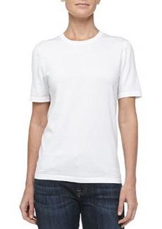 MICHAEL KORS Lisle Short-Sleeve Tee, Optic White