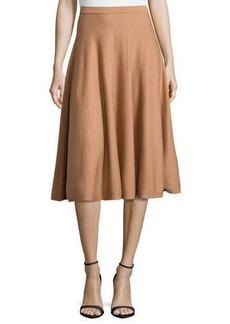 Michael Kors Long Flare Skirt, Suntan