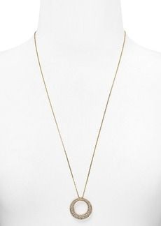 Michael Kors Long Pavé Pendant Necklace, 28""