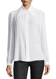 Michael Kors Long-Sleeve Button-Down Blouse