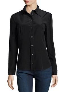 Michael Kors Long-Sleeve Button-Down Shirt, Black