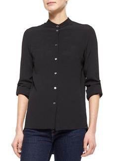 Michael Kors Long-Sleeve Button-Up Blouse