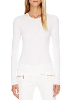 Michael Kors Long-Sleeve Cotton Tee