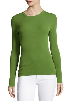 Michael Kors Long-Sleeve Fitted Top