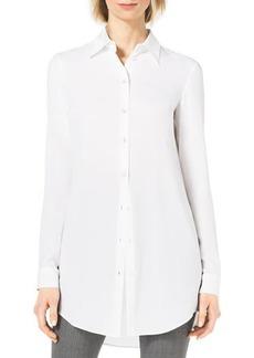 Michael Kors Long-Sleeve Silk Blouse