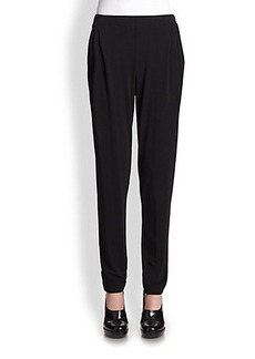 Michael Kors Matte Jersey Pleated Pants