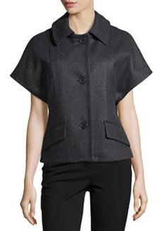 Michael Kors Melton Wool Short Dolman Sleeve Jacket, Charcoal