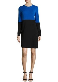 Michael Kors Merino Colorblock Dress, Royal