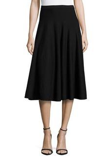 Michael Kors Merino Midi Flare Skirt, Black