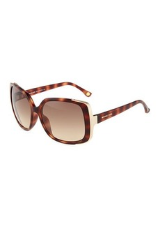 Michael Kors Metal-Trim Gabriella Oversized-Square Sunglasses