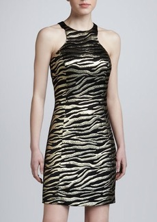Michael Kors Metallic Tiger-Pattern Dress