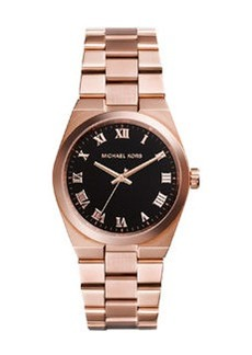 Michael Kors Mid-Size Channing Rose Golden Stainless Steel Three-Hand Watch