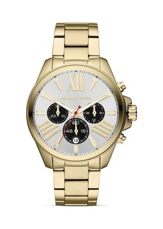 Michael Kors Mid-Size Gold Tone Wren Chronograph Watch, 41.5mm