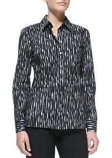 Michael Kors Mini Ikat Poplin Shirt