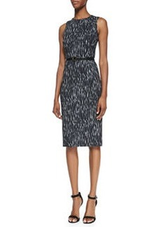 Michael Kors Mini Ikat Sheath Dress with Belt