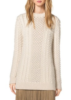 Michael Kors Mixed-Knit Wool Sweater