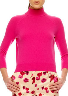 Michael Kors Mock-Neck Cashmere Top, Begonia