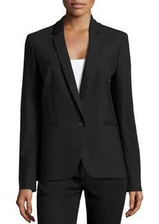 Michael Kors One-Button Blazer, Black