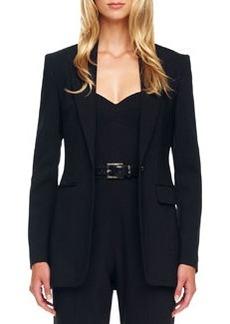 Michael Kors One-Button Crepe Jacket