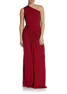 Michael Kors One-Shoulder Draped Jersey Gown
