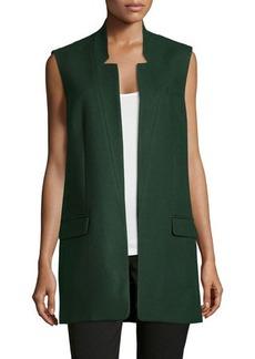 Michael Kors Open-Front Boyfriend Vest